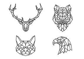 Geometrische Linie Tierform vektor