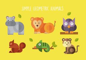 Geometrische Tiere mit einfacher Form vektor