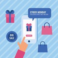 Söt Cyber Monday Social Media Post vektor