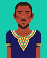 Mann in Dashiki-Illustration vektor