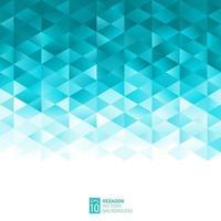 abstraktes geometrisches Sechseckmuster hellblau-grüner Hintergrund mit Kopienraum, kreative Designvorlagen, Vektorillustration vektor