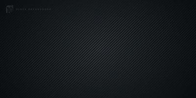gestreifte Linien diagonales Muster auf schwarzem Hintergrund und Textur. abstraktes dunkles Muster-Banner-Design. Sie können für Cover-Vorlage, Poster, Banner-Web, Flyer, Landing Page, Print-Anzeige verwenden. Vektor-Illustration vektor
