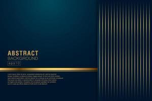 abstrakte vertikale Streifen goldene Linien auf dunklem marineblauem Hintergrund. Luxus und eleganter Stil. Sie können für Cover-Broschüren-Vorlagen, Poster, Banner-Web, Flyer, Print-Anzeigen usw. verwenden vektor