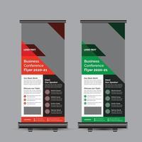 Rollup-Banner für Geschäftskonferenzen vektor