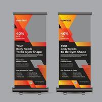 Fitness-Studio-Fitness-Roll-Up-Banner-Design vektor