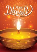 Diwali Festival Flyer und Poster Hintergrund vektor