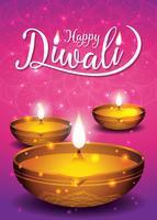 Diwali festival flygblad och affisch bakgrund vektor