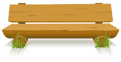 Holzbank vektor