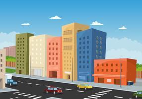 Körning Downtown vektor