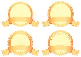 guld utmärkelser vektor
