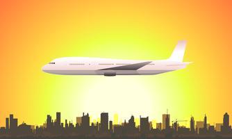 Sommer fliegendes Flugzeug vektor