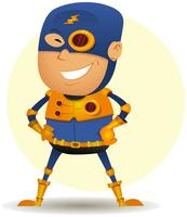 komisk superhjälte med gyllene pansar vektor