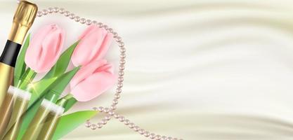lycklig kvinnodag semester gratulation bakgrund vektor
