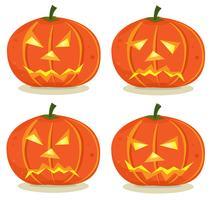 Halloween-Kürbisse eingestellt