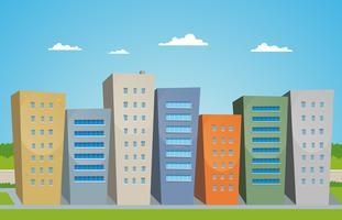 Tecknade byggnader vektor