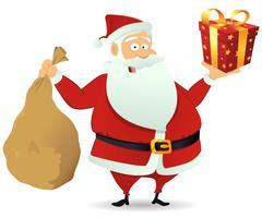 Santa leverans vektor