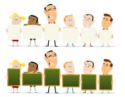 Lärare och barn klassrumsuppsättning vektor