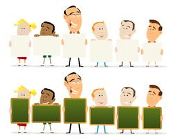 Lehrer und Kinderklassenzimmerset