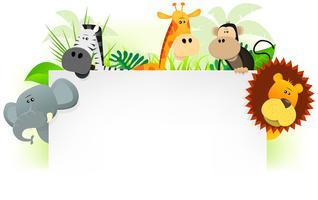 Wilde Tiere Briefkopf Hintergrund