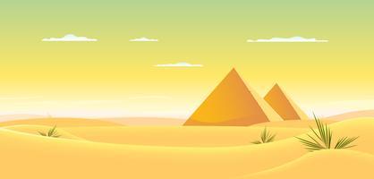 Egyptisk pyramid vektor