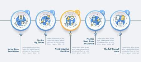 Selbstregulierungs-Boosting-Tipps Vektor-Infografik-Vorlage vektor