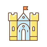 Mittelalterliche Burg RGB-Farbsymbol vektor