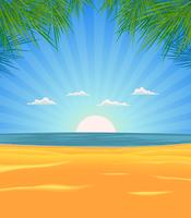 Sommerstrandlandschaft