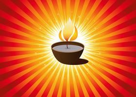 Diwali Festival oder Weihnachtshintergrund vektor