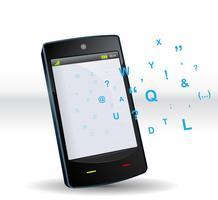 smartphone abc vektor