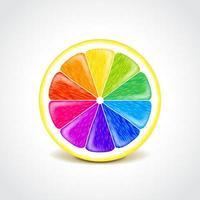 abstraktes Hintergrunddesign - Regenbogen-Orangenfrucht vektor