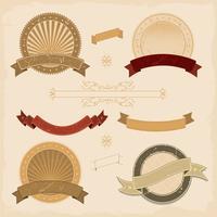 Grafisk banner och ikoner samling vektor