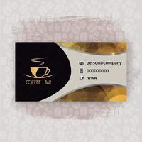 Präsentationskarte Restaurantkaffee vektor