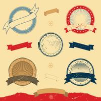 Grafische Fahne und Ikonen-Sammlung vektor
