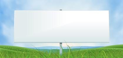 Frühling oder Sommer breite weiße Anschlagtafel