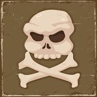 Weinlese-Schädel und Kreuzknochen