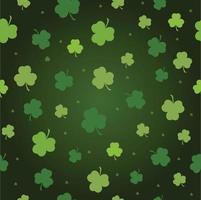 nahtlose Muster Vektor grüner Klee Hintergrund für st. Patricks Tag