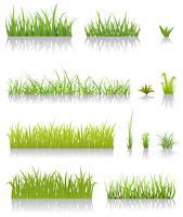 Grön gräsuppsättning
