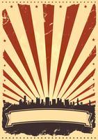 Grunge amerikanische Broschüre