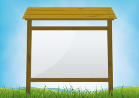 Sommer-Waldschild-Anschlagtafel vektor