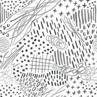Vektor moderne nahtlose Hintergrund mit Schiefer Bleistift handgezeichnete abstrakte Linien, Kritzeleien. Verwenden Sie es für Tapeten, Textildruck, Musterfüllungen, Web, Oberflächenstruktur, Geschenkpapier, Präsentationsdesign