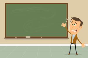 Drück dich aus ! - Lehrer zeigt Tafelzeichen vektor