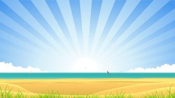 strand banner vektor