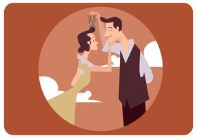 Klassische Paare unter Mistelzweig