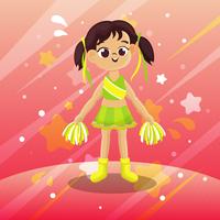 Cheerleader-Karikaturvektor