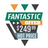 Fantastisches Angebot vektor