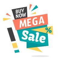 Mega-Verkauf vektor