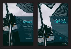 Professionelle Broschürenvorlage. Geschäftsmarketing Flyer Vorlage vektor
