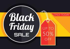 Black Friday-Verkaufsfahnen-Vektor vektor