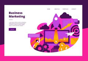 Geschäfts-Marketing-Element-Fahnen-Vektor-Schablone
