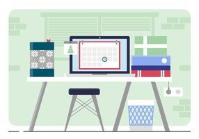 Vektor Designer Room Illustration